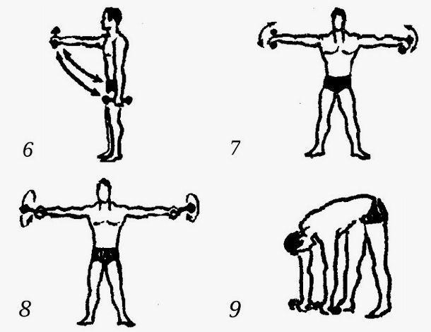 Тренировка Сандова с гантелями
