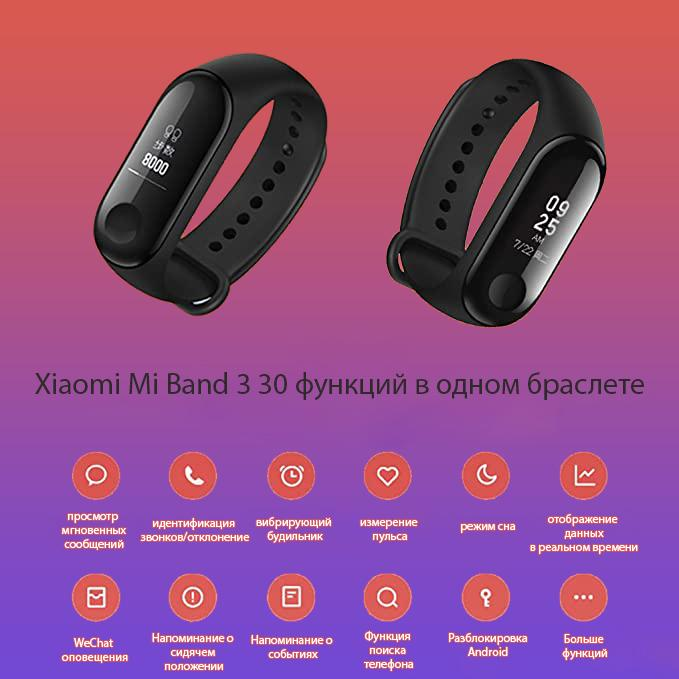 Характеристики и функции Xiaomi Mi Band 3