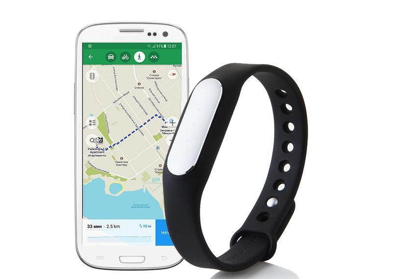 GPS фитнес браслета Xiaomi Mi Band 1s