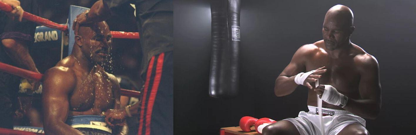 Тренировка Эвандера Холифилда