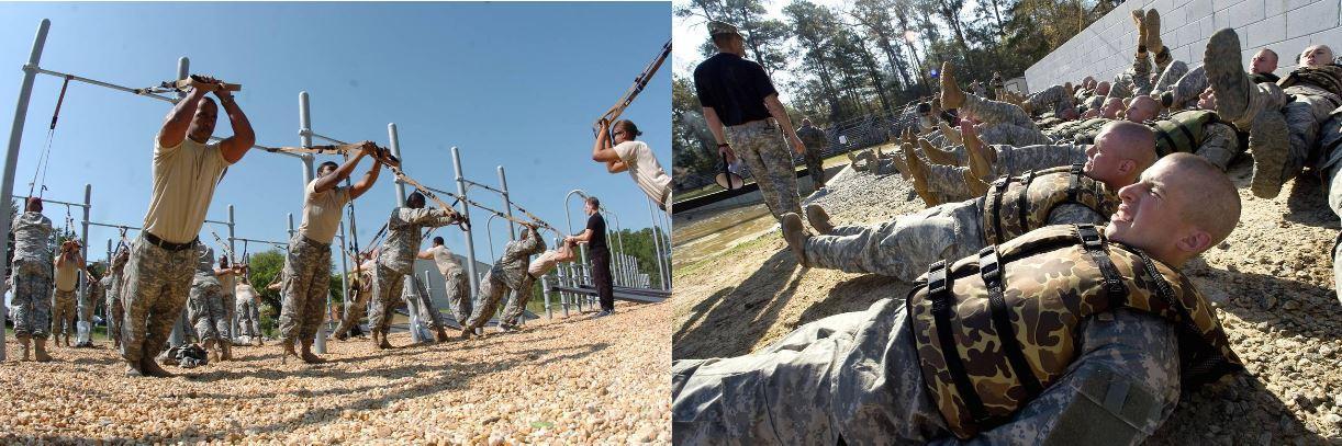 тренировка морских пехотинцев
