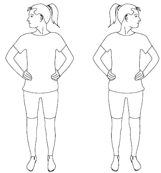 упражнение «Повороты головы»