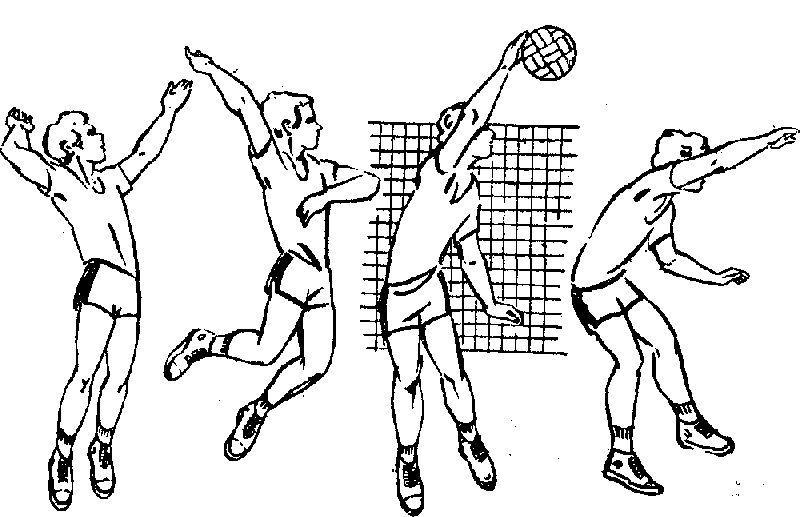 Прямой нападающий удар в волейболе