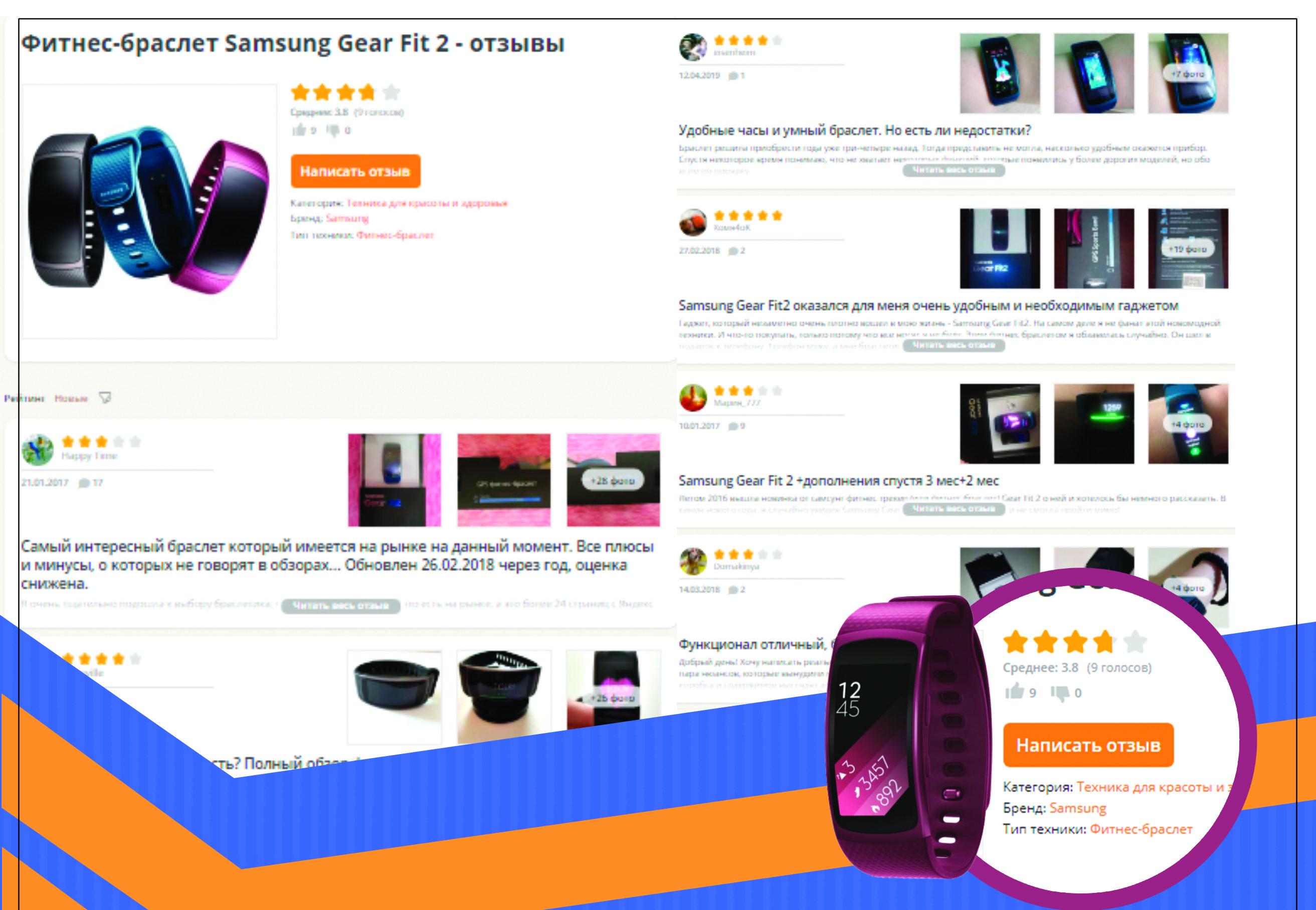 Обзор и отзывы о фитнес браслете Samsung Gear Fit
