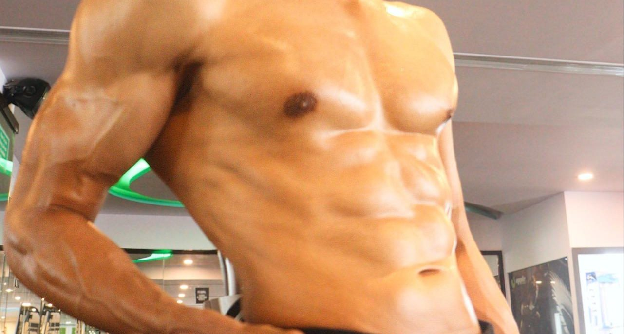 Результат простой сушки тела.