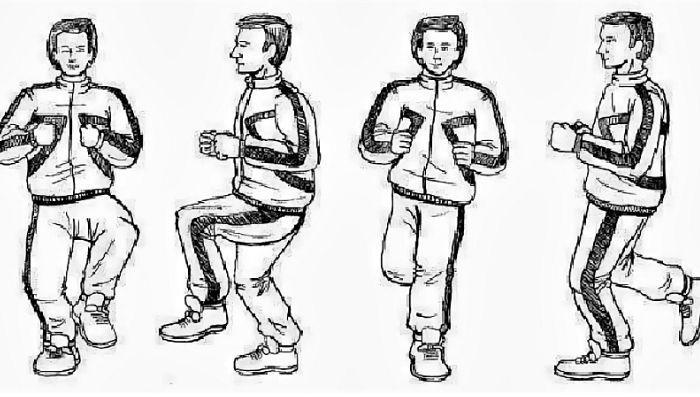 упражнение «Задний шаг»